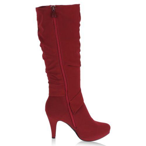 Damen Stiefel Plateaustiefel - Rot