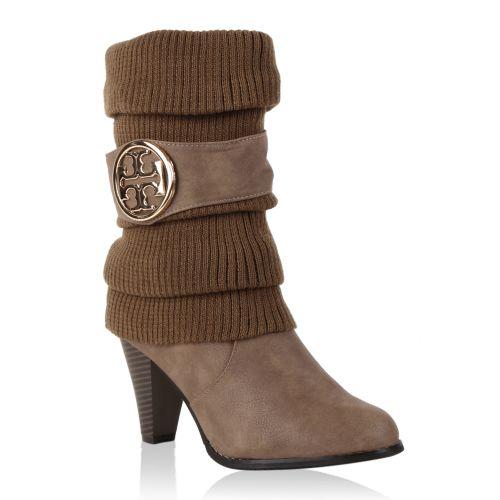 Damen Stiefeletten Klassische Stiefeletten - Khaki