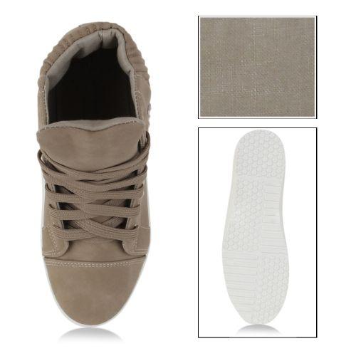 Damen Sneaker high - Taupe