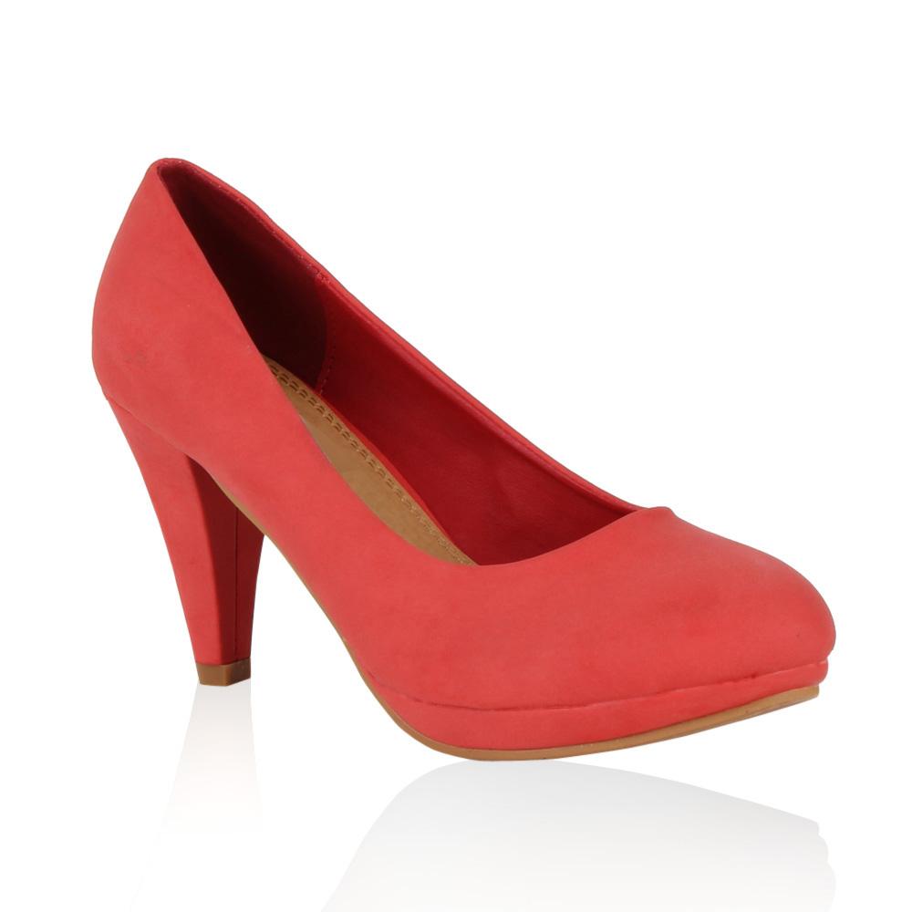 Damen Pumps High Heels - Hellrot