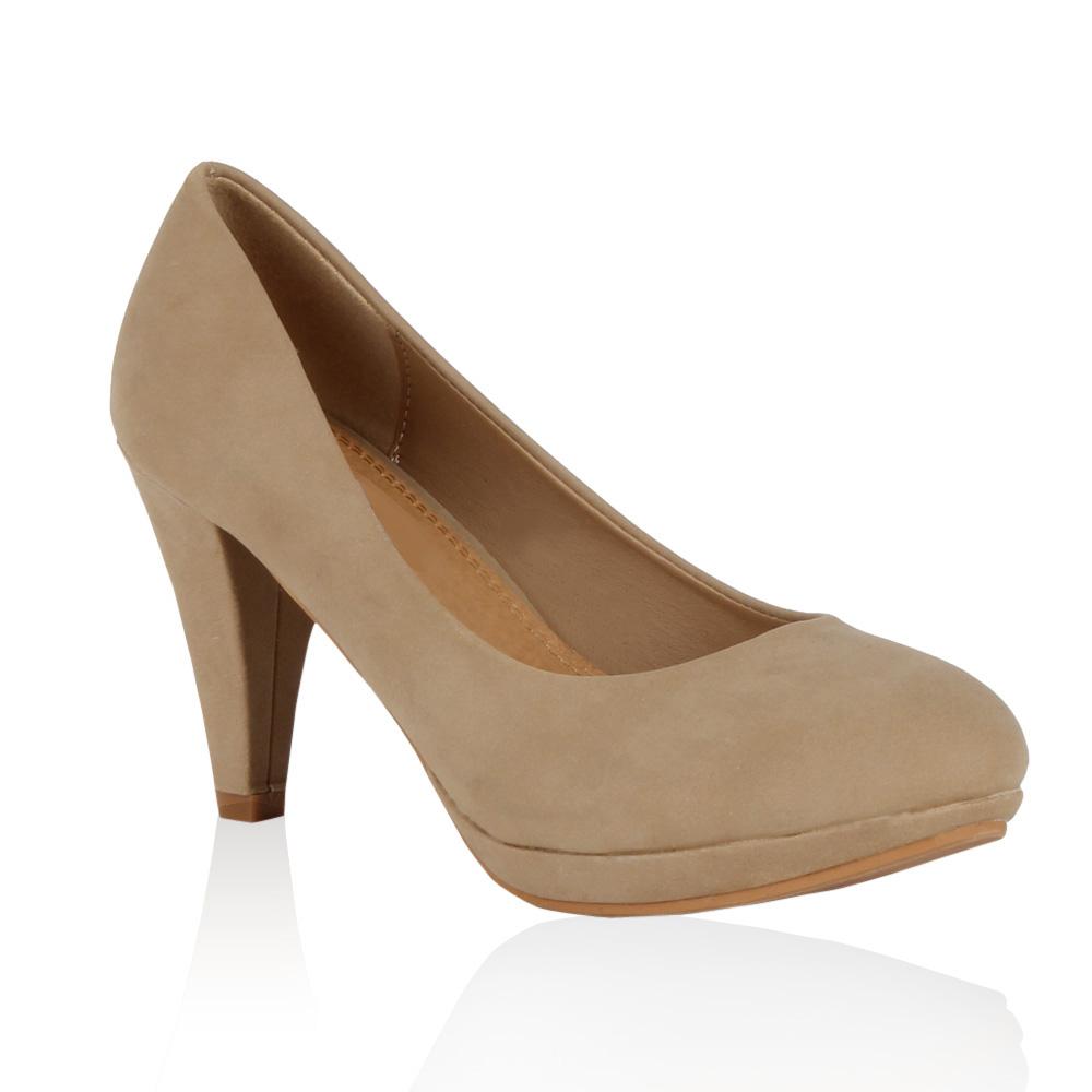 Damen Pumps High Heels - Beige