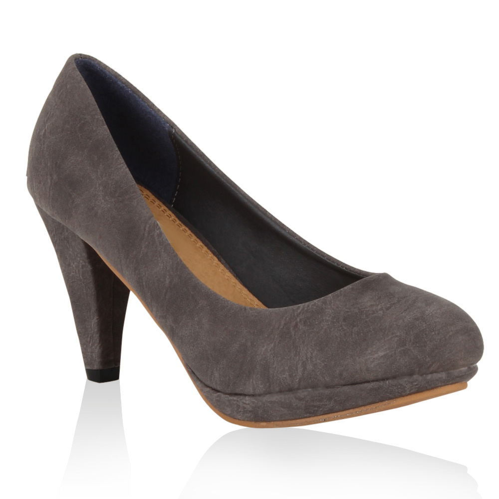 Damen Pumps High Heels - Hellgrau