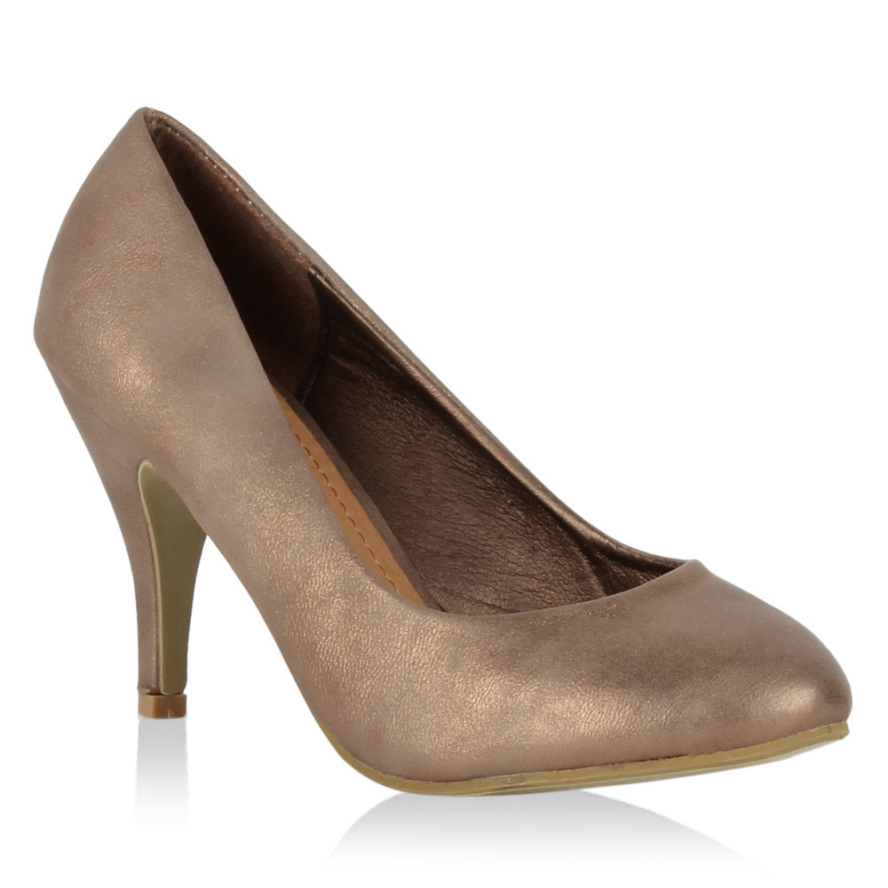 Damen Pumps High Heels - Bronze