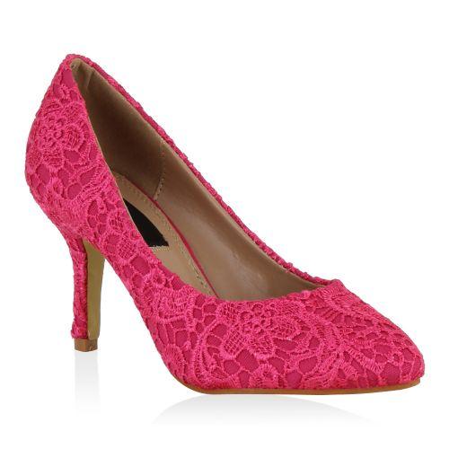 Damen Pumps High Heels - Coral