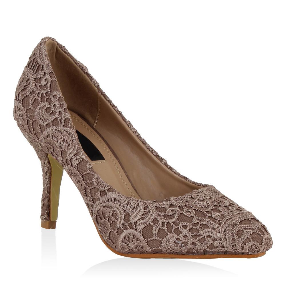 Damen Pumps High Heels - Taupe