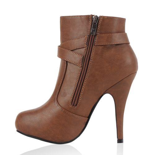 Damen Stiefeletten Ankle Boots - Schlamm