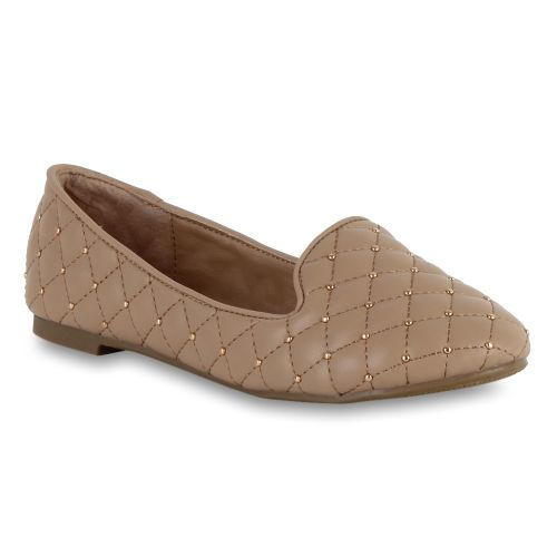 Damen Slippers Loafers - Beige