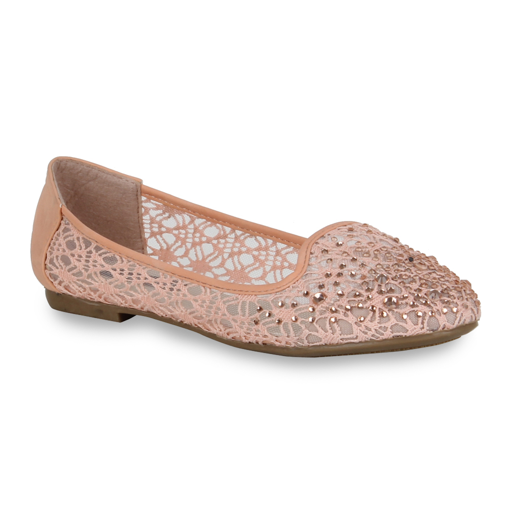 Damen Ballerinas Loafers - Apricot