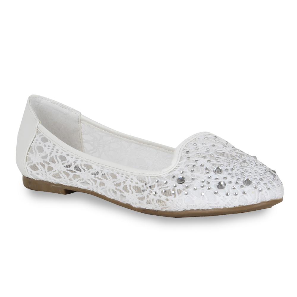 Damen Ballerinas Loafers - Weiß