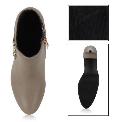 Damen Pumps High Heels - Stone