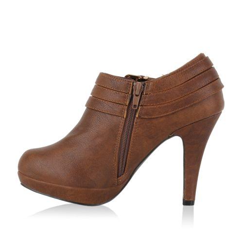 Damen Pumps Ankle Boots - Braun