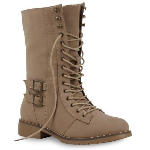 Damen Stiefel Worker Boots - Khaki