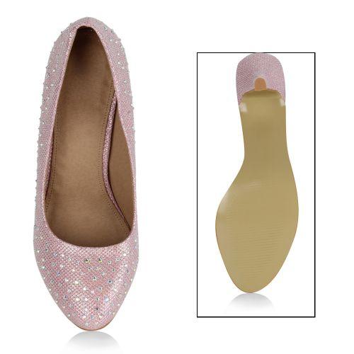 Damen Pumps High Heels - Rosa - Aiken