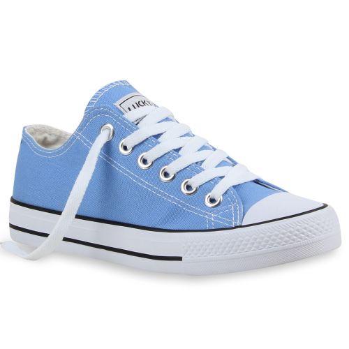 Damen Sneaker low - Himmelblau