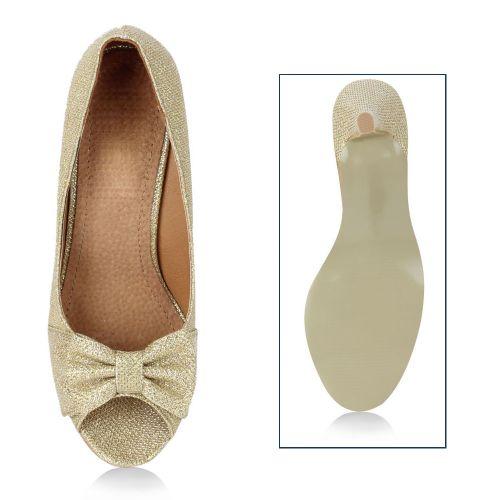 Damen Pumps High Heels - Gold