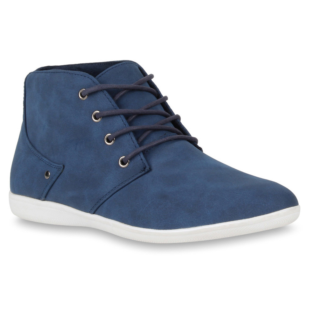 Herren Boots Schnürstiefel - Blau