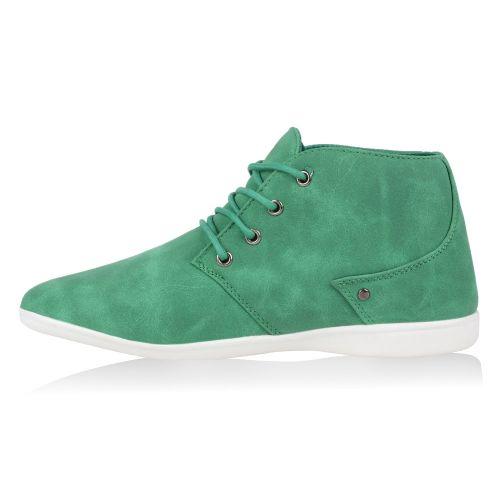 Herren Boots Schnürstiefel - Grün