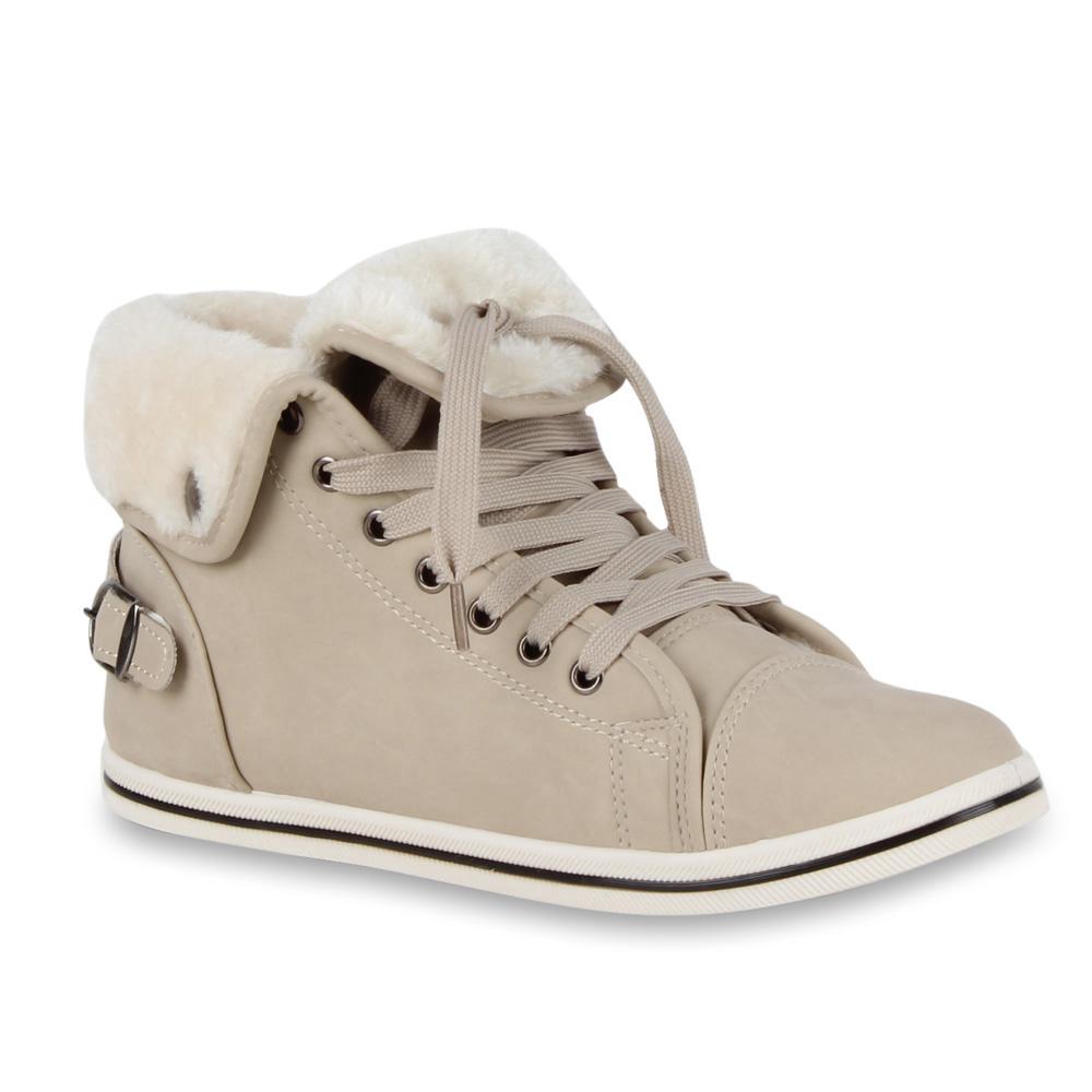 Damen Sneaker high - Beige