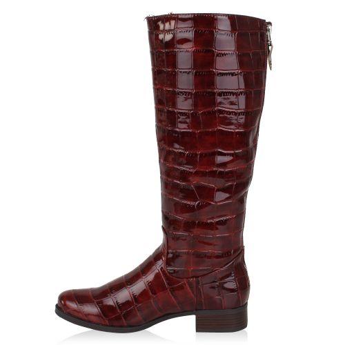 Damen Stiefel Klassische Stiefel - Dunkelrot