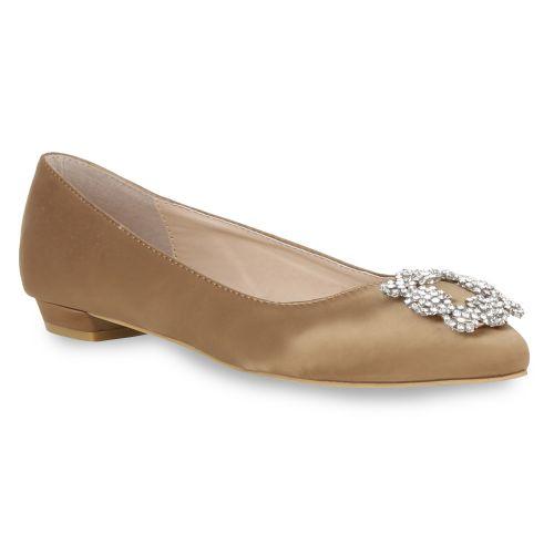 Damen Ballerinas Klassische Ballerinas - Bronze