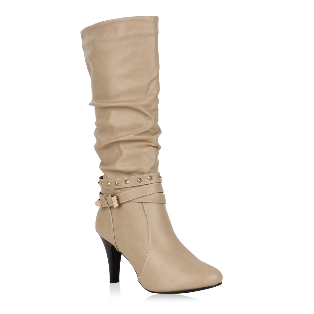 Damen Stiefel High Heels - Beige