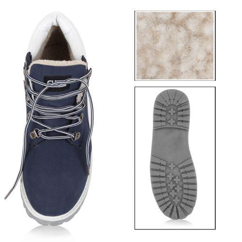 Herren Boots Outdoor Boots - Dunkelblau