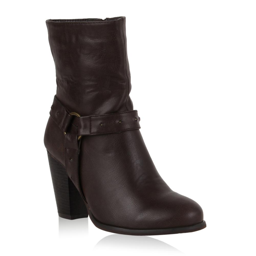 Damen Stiefeletten High Heels - Braun