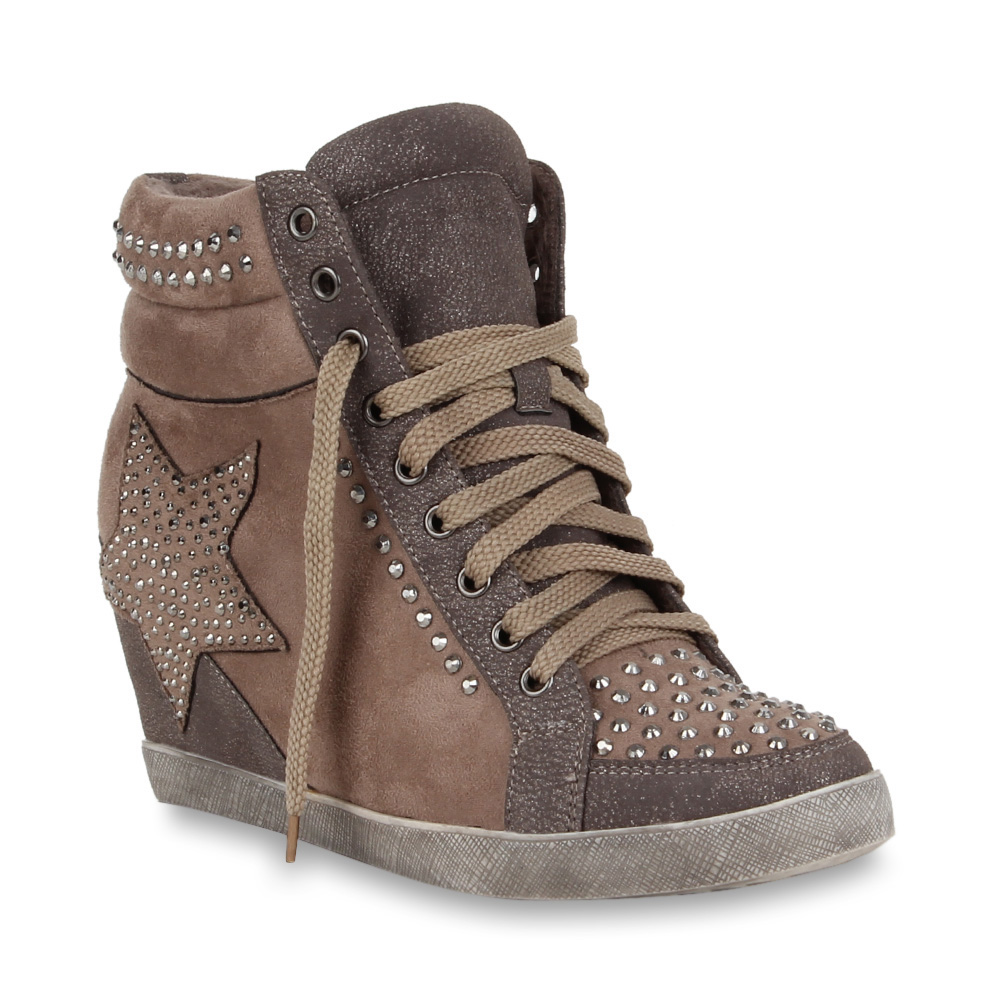 damen sneaker wedges khaki auf rechnung schweiz. Black Bedroom Furniture Sets. Home Design Ideas