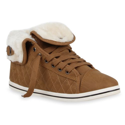 Damen Sneaker high - Hellbraun
