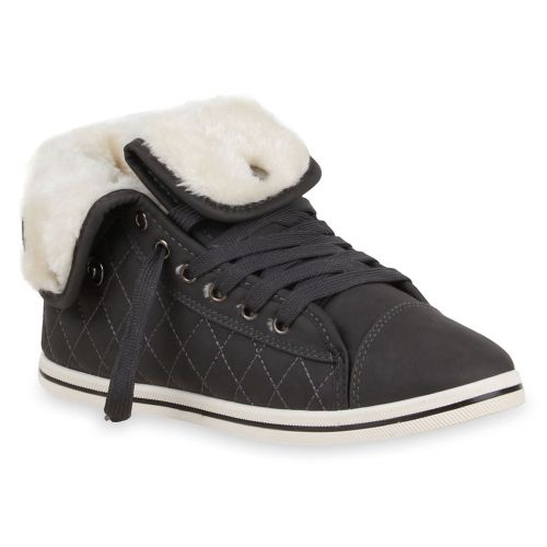 Damen Sneaker high - Dunkelgrau