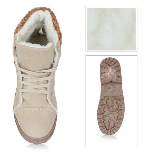 Damen Stiefeletten Outdoor Boots - Beige