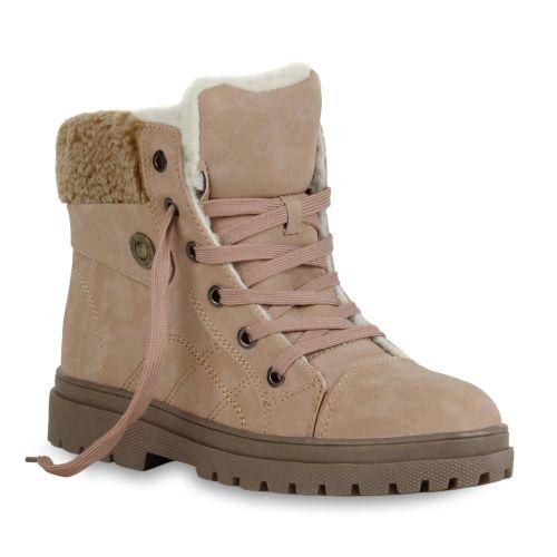 Damen Stiefeletten Outdoor Boots - Rosa - Coleman