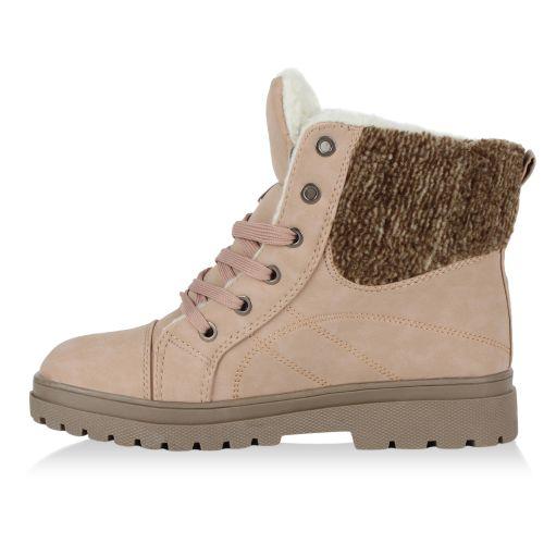 Damen Stiefeletten Outdoor Boots - Rosa - Goodyear