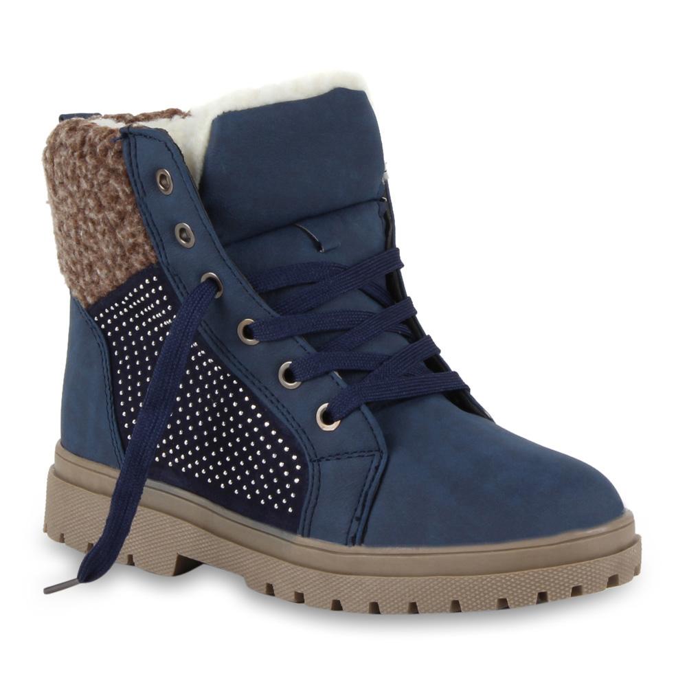 Damen Stiefeletten Outdoor Boots - Dunkelblau