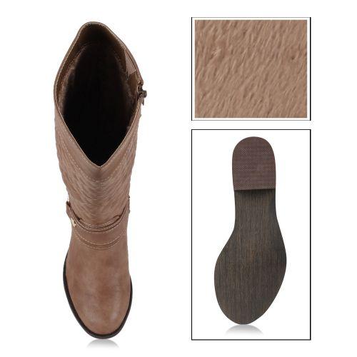 Damen Stiefel Klassische Stiefel - Khaki