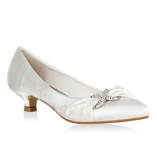 Damen Pumps Klassische Pumps - Weiß