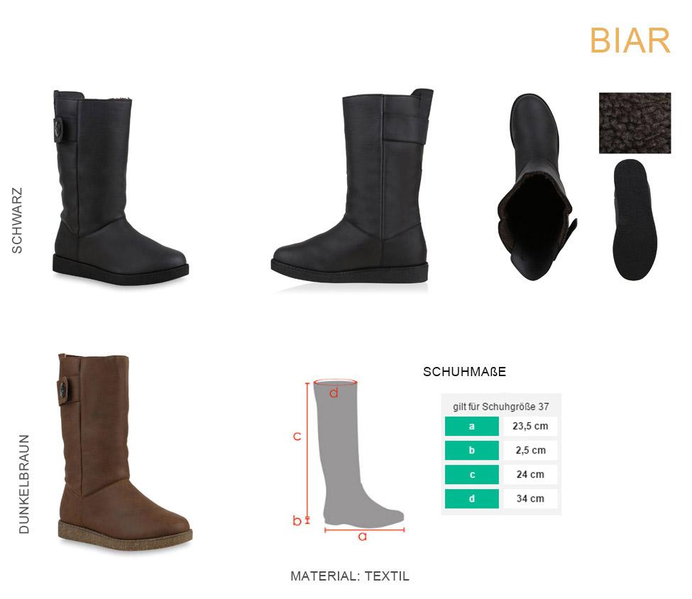 Bequeme Damen Schlupfstiefel Winter Boots Stiefel Gefüttert 70354  36-41 Schuhe