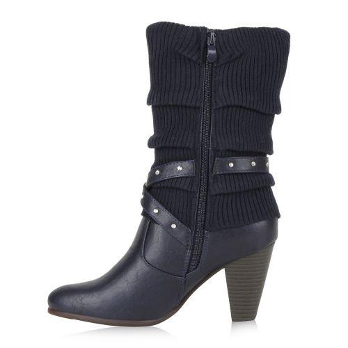 Damen Klassische Stiefel - Dunkelblau