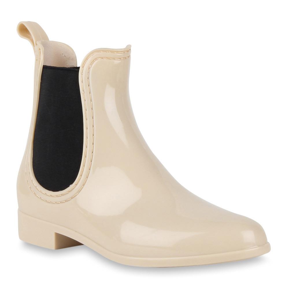 buy online 1f82d 6d9e6 Damen Stiefeletten Gummistiefeletten - Beige