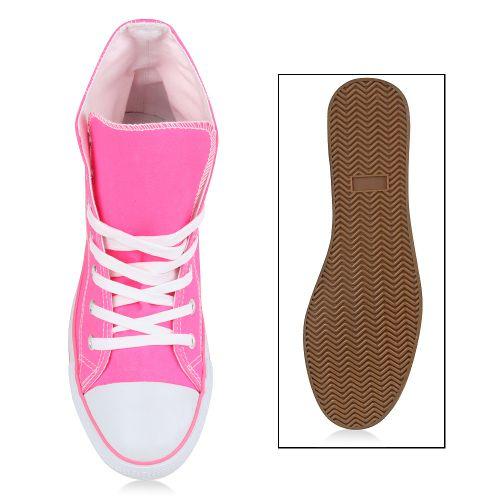 Damen Sneaker high - Fuchsia