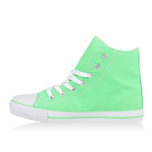 Damen Sneaker high - Hellgrün