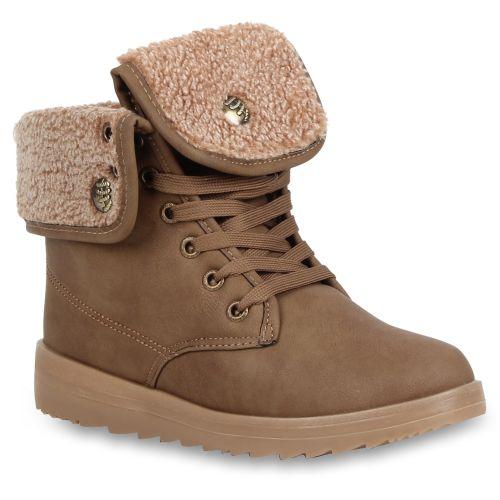 Damen Stiefeletten Outdoor Boots - Khaki