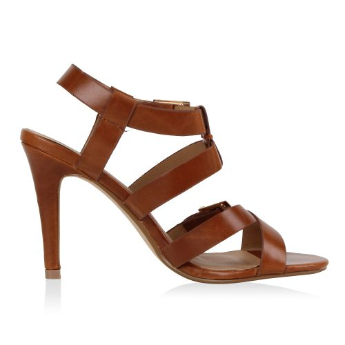 Damen Sandaletten High Heels - Braun
