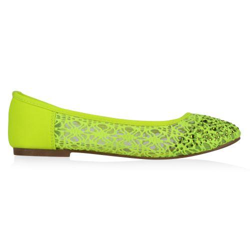 Damen Ballerinas Klassische Ballerinas - Neongrün