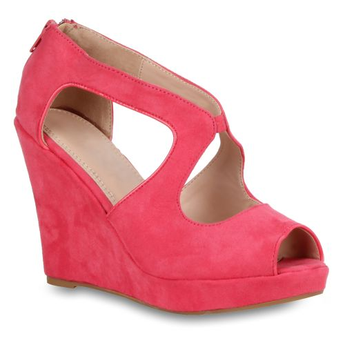 Damen Sandaletten High Heels - Fuchsia