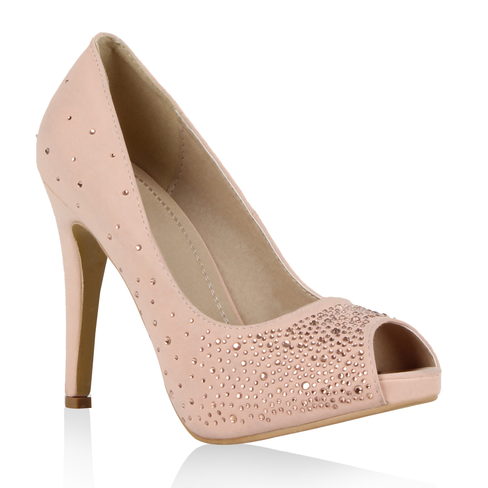 Damen Pumps Peeptoes - Rosa - Savannah