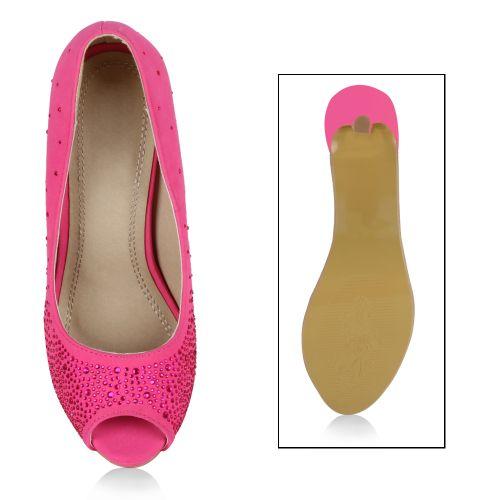 Damen Pumps Peeptoes - Pink
