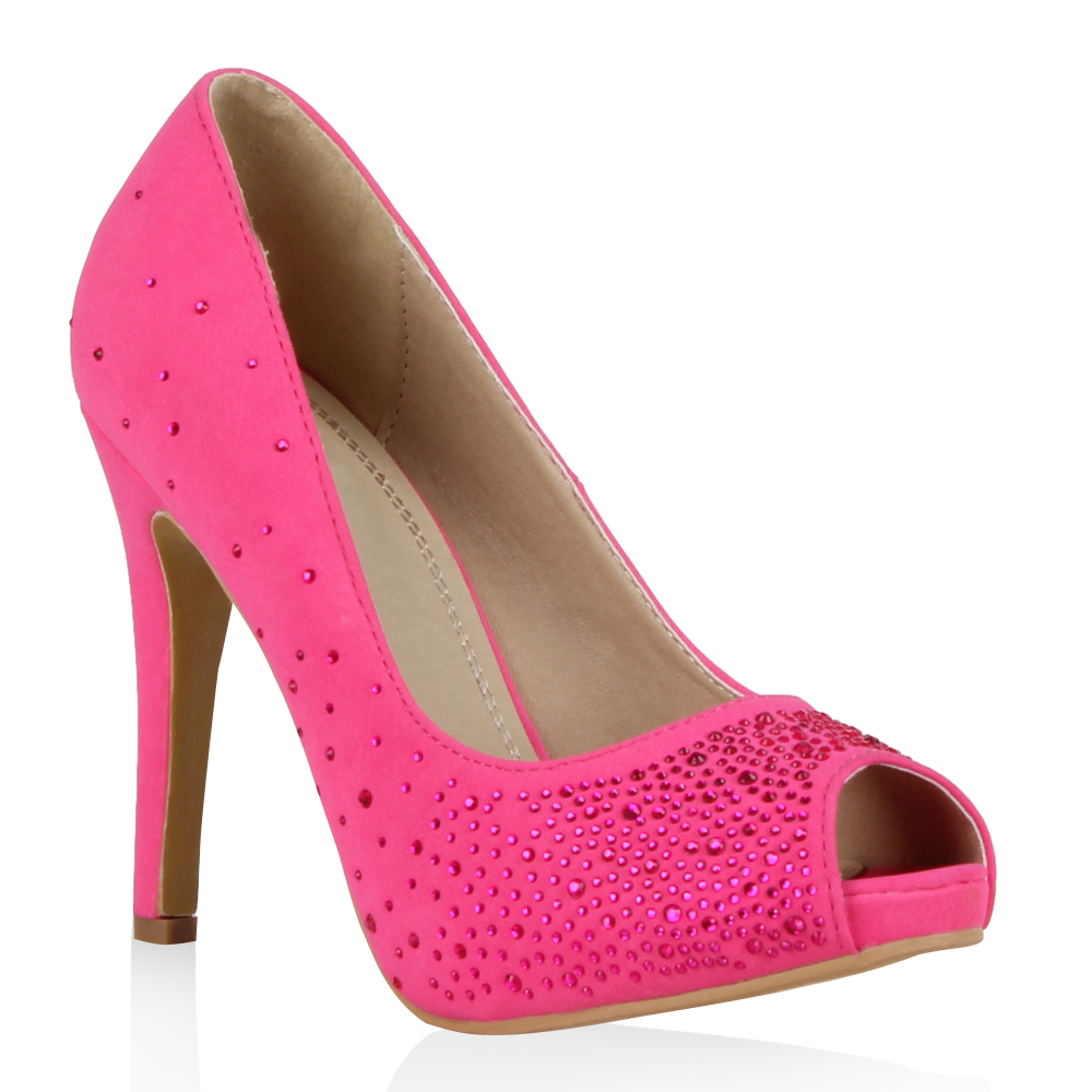 Damen Pumps Peeptoes - Pink