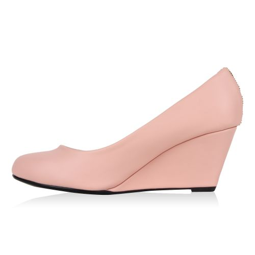 Damen Pumps Keilpumps - Rosa - Gelsa