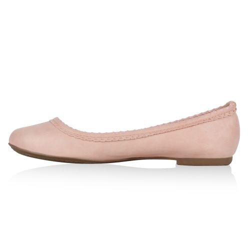 Damen Ballerinas Klassische Ballerinas - Rosa - Dishman